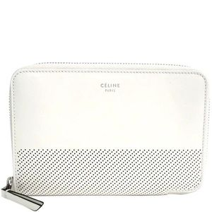 Céline white zip-around wallet